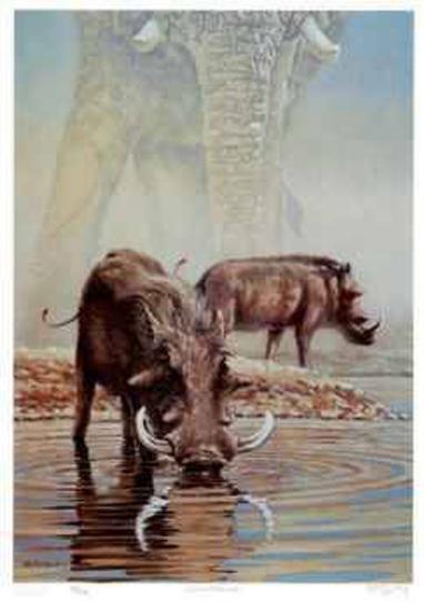 Tsavo Waterhole-R. V. Stanley-Limited Edition
