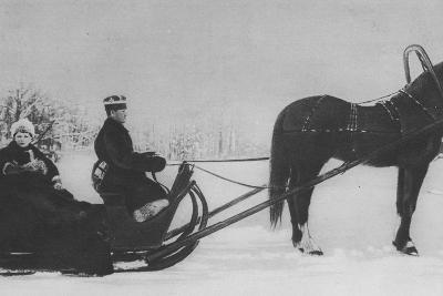 Tsesarevich Alexi Nikolaevich Travelling by Sleigh--Photographic Print