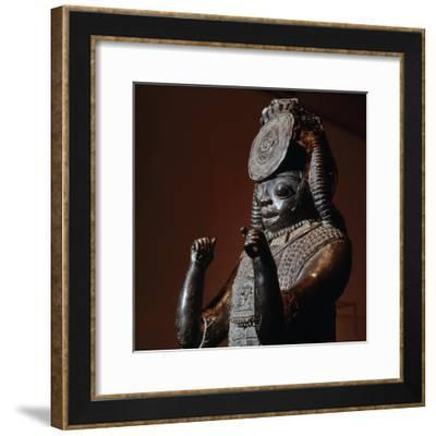 Tsoede bronze, from Tada, Nigeria, c14th-15th century-Werner Forman-Framed Photographic Print