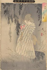 The Ghost of Okiku at Sarayashiki, 1890 by Tsukioka Yoshitoshi