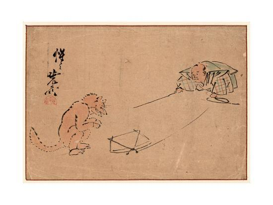 Tsuri Gitsune-Kawanabe Kyosai-Giclee Print