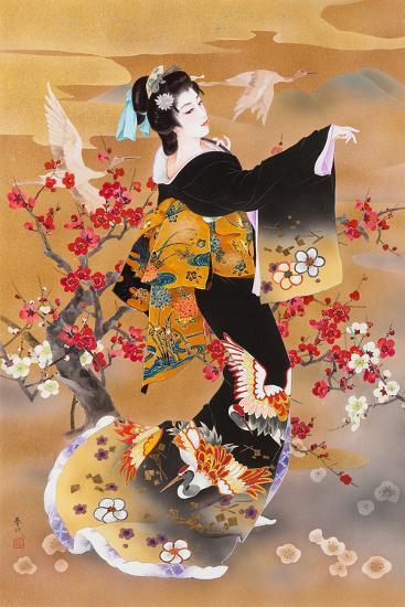 Tsuru Kame (Variant 1)-Haruyo Morita-Art Print