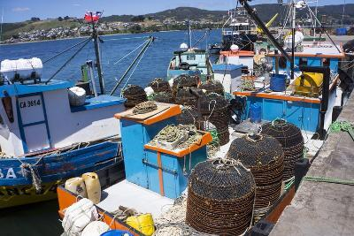 Tthe Fishing Harbour of Ancud, Island of Chiloe, Chile, South America-Peter Groenendijk-Photographic Print