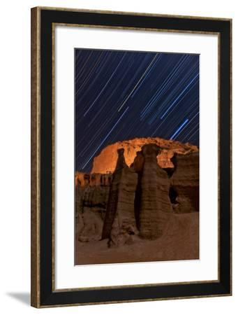 Tthe Stars of the Constellation Orion Rise over Rock Formations in the Valley of the Stars-Babak Tafreshi-Framed Photographic Print