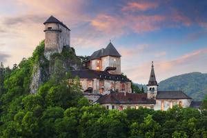 Beautiful Slovakia Castle at Sunset - Oravsky Hrad by TTstudio