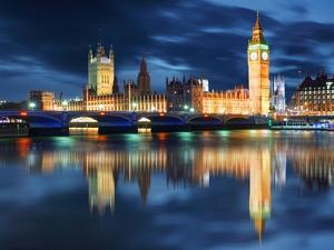 Big Ben and Houses of Parliament at Evening, London, Uk by TTstudio