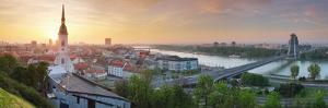 Bratislava Panorama at Sunrise by TTstudio