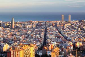 Cityscape of Barcelona, Spain by TTstudio
