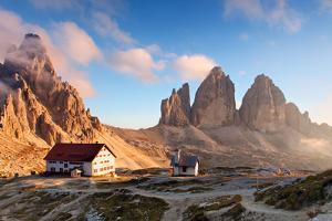Dolomites Mountain  in Italy at Sunset - Tre Cime Di Lavaredo by TTstudio