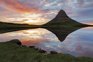 Iceland Landscape Spring Panorama at Sunset by TTstudio