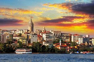 Istanbul at Sunset - Galata District, Turkey by TTstudio