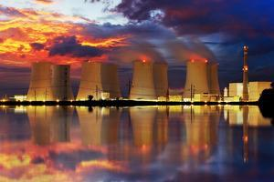 Nuclear Power Plant by Night by TTstudio