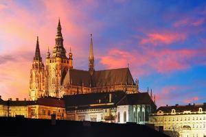 Prague Castle at Sunset - Czech Republic by TTstudio