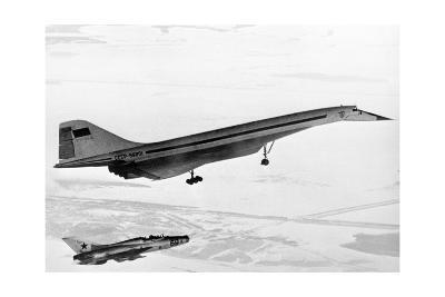 Tu-144, the First Supersonic Jet , 1969-Ria Novosti-Giclee Print