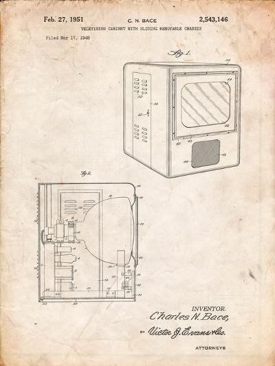 Tube Television Patent-Cole Borders-Art Print