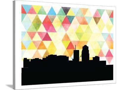 Tucson Triangle-Paperfinch 0-Stretched Canvas Print