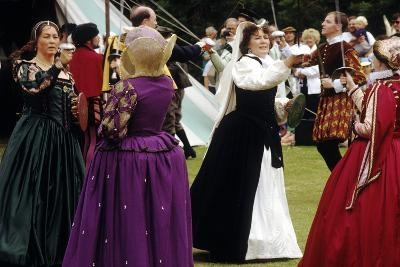 Tudor Period Dancing, Late 16th Century Historical Re-Enactment--Giclee Print