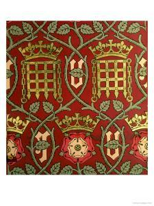 Tudor Rose, Reproduction Wallpaper Designed by S. Scott and Produced by Cole & Sons