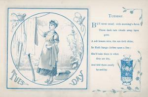 Tuesday: the Housemaid Hangs the Washing Out on the Line
