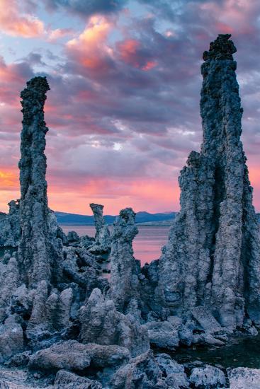 Tufa Sunrise Storm Mono Lake, Eastern Sierras, California-Vincent James-Photographic Print