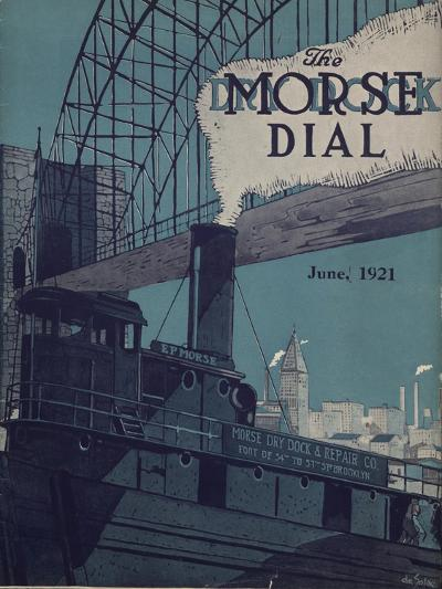 Tug E.P. Morse on Salvaging Cruise, Front Cover of the 'Morse Dry Dock Dial', June 1921--Giclee Print