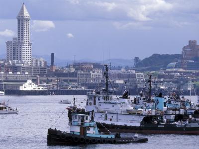 Tugboats, Seattle Maritime Festival, Washington, USA-William Sutton-Photographic Print