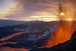 Fissure Eruption of Volcan Chico into 9Km Diameter Caldera by Tui De Roy