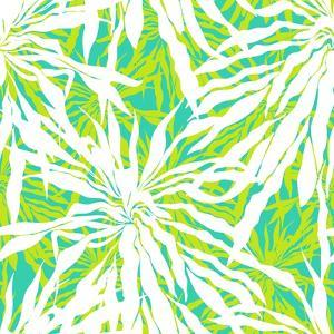 Seamless Pattern with Tropical Palm Leaves by tukkki