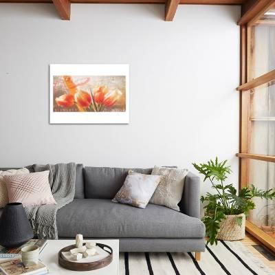Magnificent Tulip Bench Art Print By Gerard Beauvoir Art Com Uwap Interior Chair Design Uwaporg
