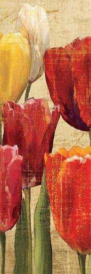 Tulip Fantasy on Cream III-Marilyn Hageman-Art Print