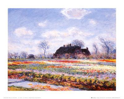 Tulip Fields at Sasenheim-Claude Monet-Art Print