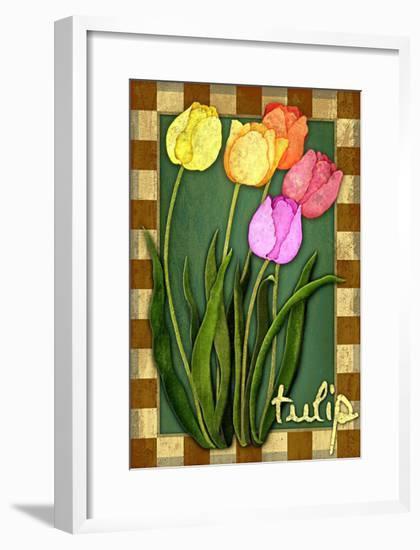 Tulip Flowers-Kate Ward Thacker-Framed Giclee Print