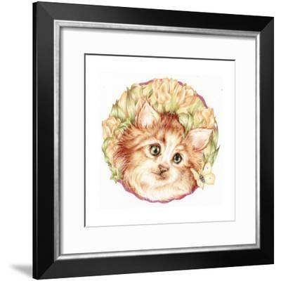 Tulip Kitten-Karen Middleton-Framed Giclee Print