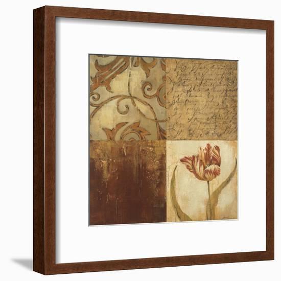 Tulip Manuscripts II-Elizabeth Jardine-Framed Giclee Print