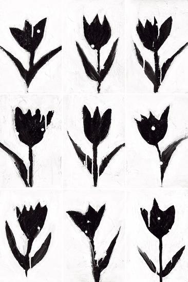 Tulip Noir Composite-Lilian Scott-Art Print