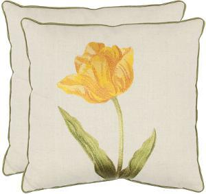 Tulip Pillow Pair - Gold