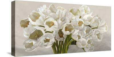 Tulipes blanches-Leonardo Sanna-Stretched Canvas Print
