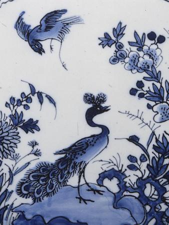 Tulipière (Tulpenvaas) Fan Decorated with Far East--Giclee Print