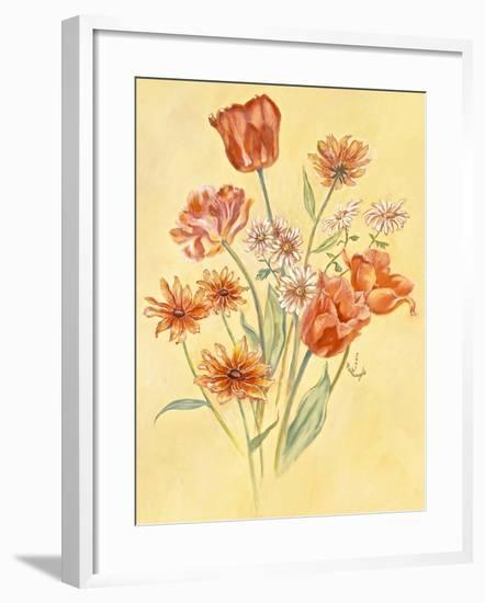 Tulips and Daisies-Judy Mastrangelo-Framed Giclee Print