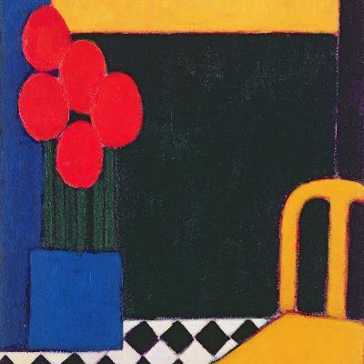 Tulips and Yellow Chair, 2002-Eithne Donne-Giclee Print