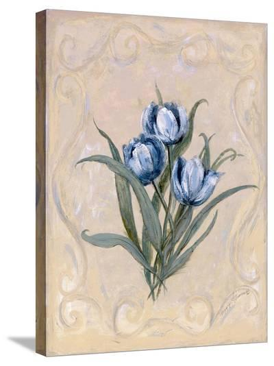 Tulips Azure-Peggy Abrams-Stretched Canvas Print