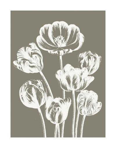 Tulips (Burlap & Ivory)-Botanical Series-Art Print
