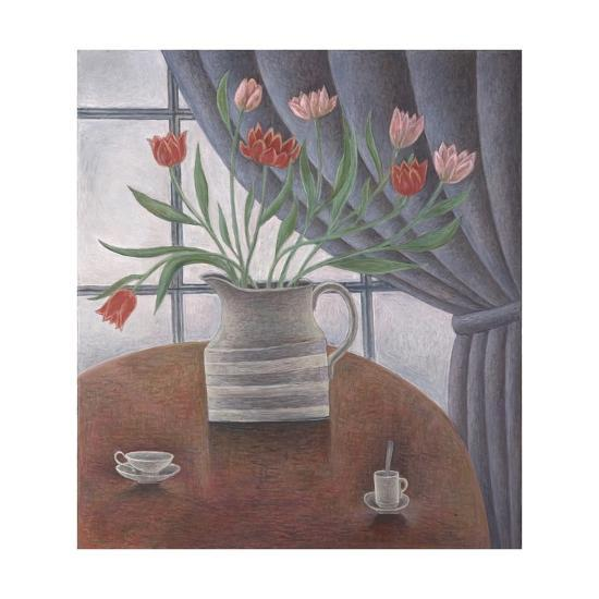 Tulips, Curtain, Cups, 2002-Ruth Addinall-Giclee Print