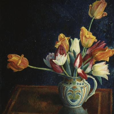 Tulips in a Staffordshire Jug-Dora Carrington-Giclee Print