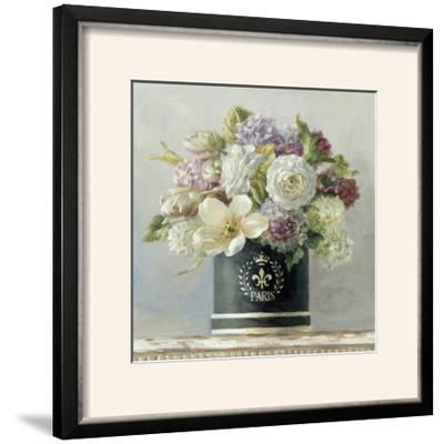 Tulips in Black and White Hatbox-Danhui Nai-Framed Photographic Print