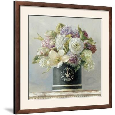 Tulips in Black and White Hatbox-Danhui Nai-Framed Photographic Print