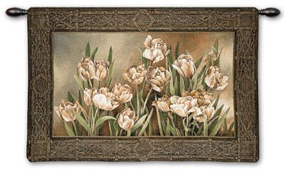 Tulips in Window-Linda Thompson-Wall Tapestry