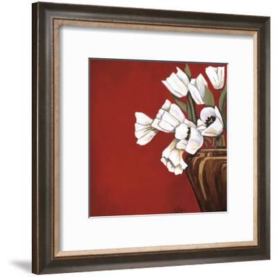 Tulips on Red-Ann Parr-Framed Giclee Print