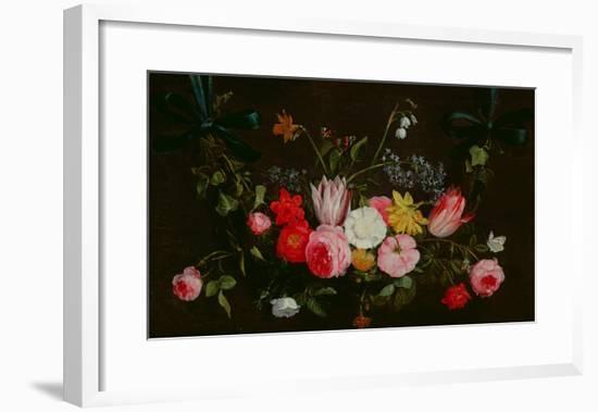 Tulips, Peonies and Butterflies-Jan Van, The Elder Kessel-Framed Giclee Print
