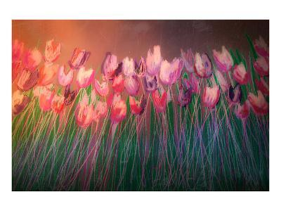 Tulips to attention-Claire Westwood-Art Print